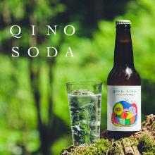 樹木からうまれたプレミアムな炭酸水 木の香りを味わう『QINO SODA』 Makuakeにて販売開始